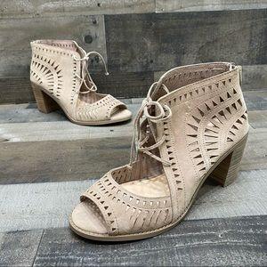 Vince Camuto Tarita Women's Heels Tan Leather 10